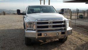 Truck Defender Polished Foreman on a 2012 Dodge Ram